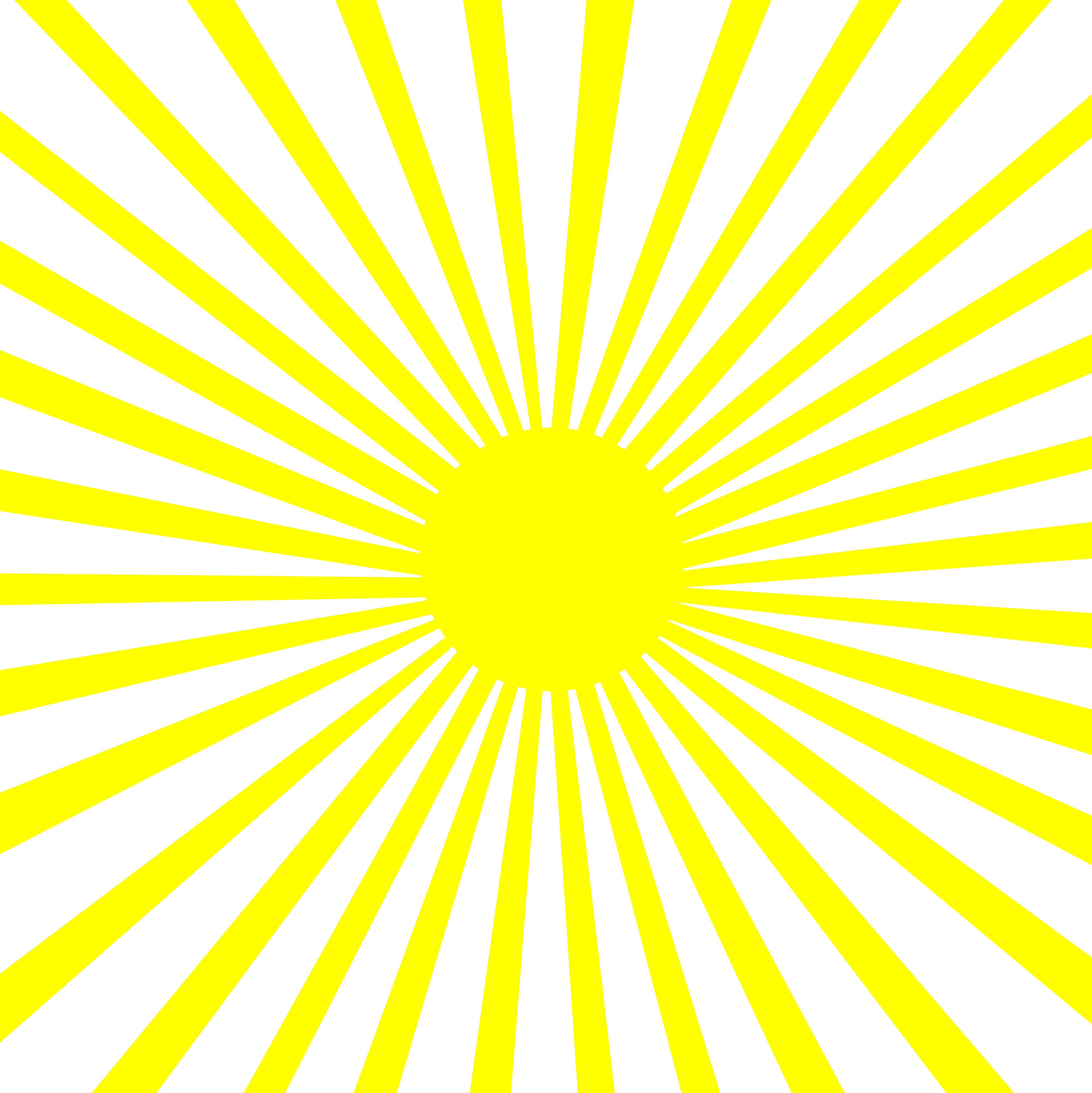 Yellow Sun Burst Pattern - Free Clip Art