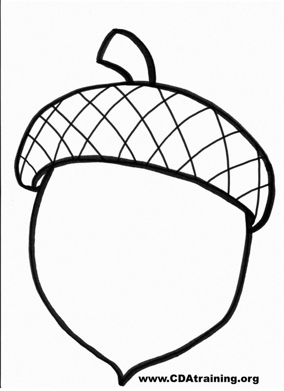 picture about Acorn Pattern Printable named Acorn Template Coloring Site. Acorn Template. Cost-free Acorn
