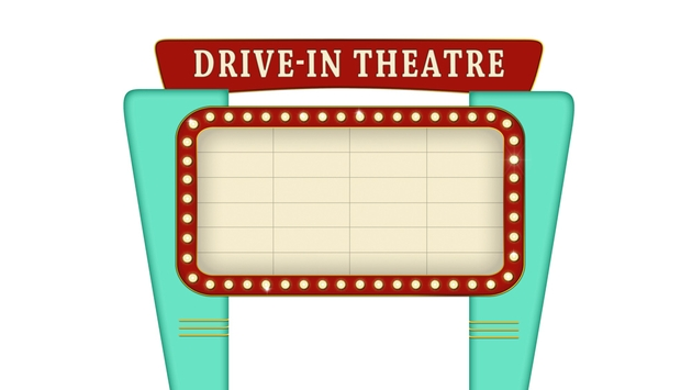 Free Drive In Cinema Sign - Cliparts.co