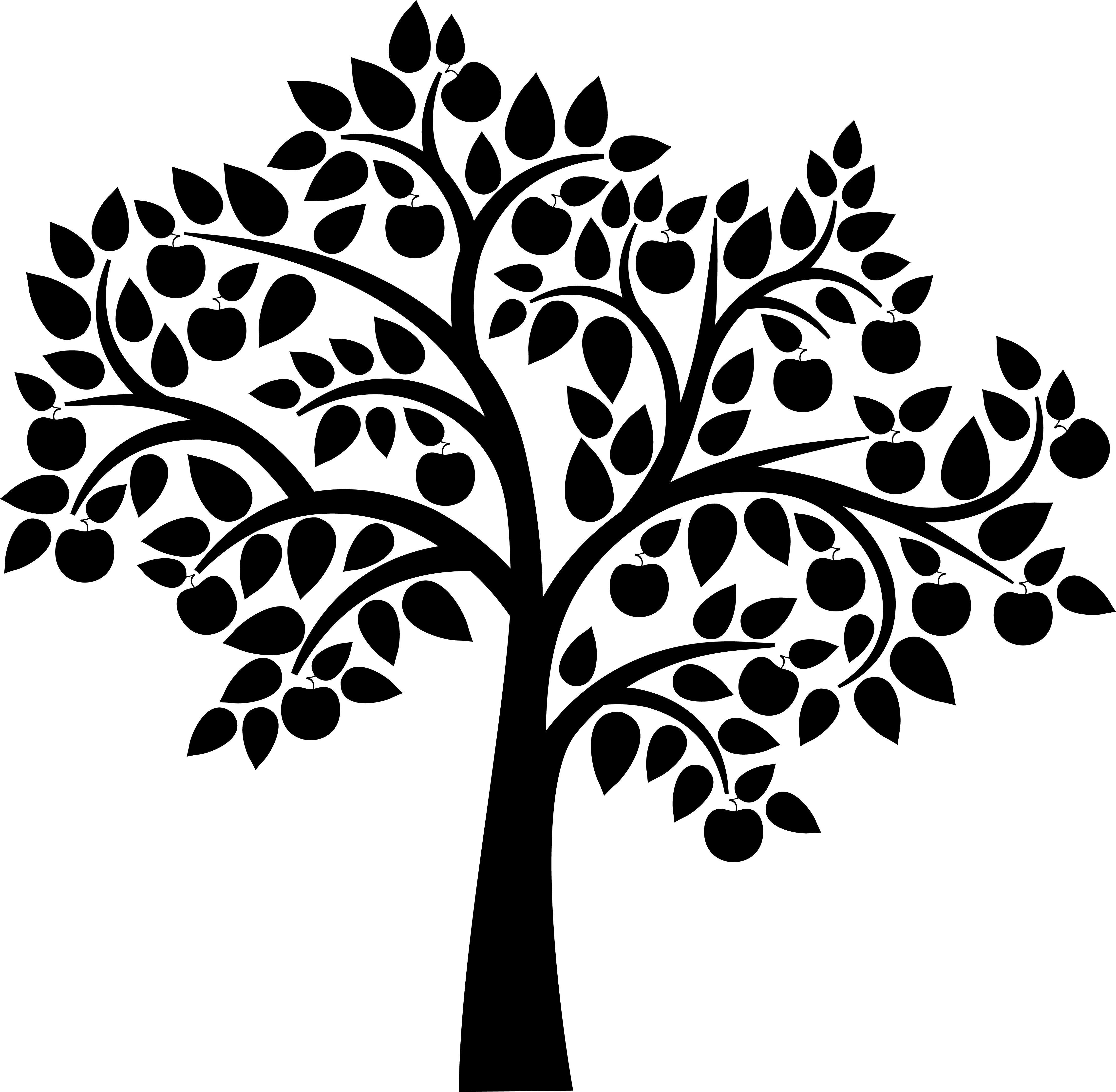 Wedding Tree Vector: Tree Silhouette