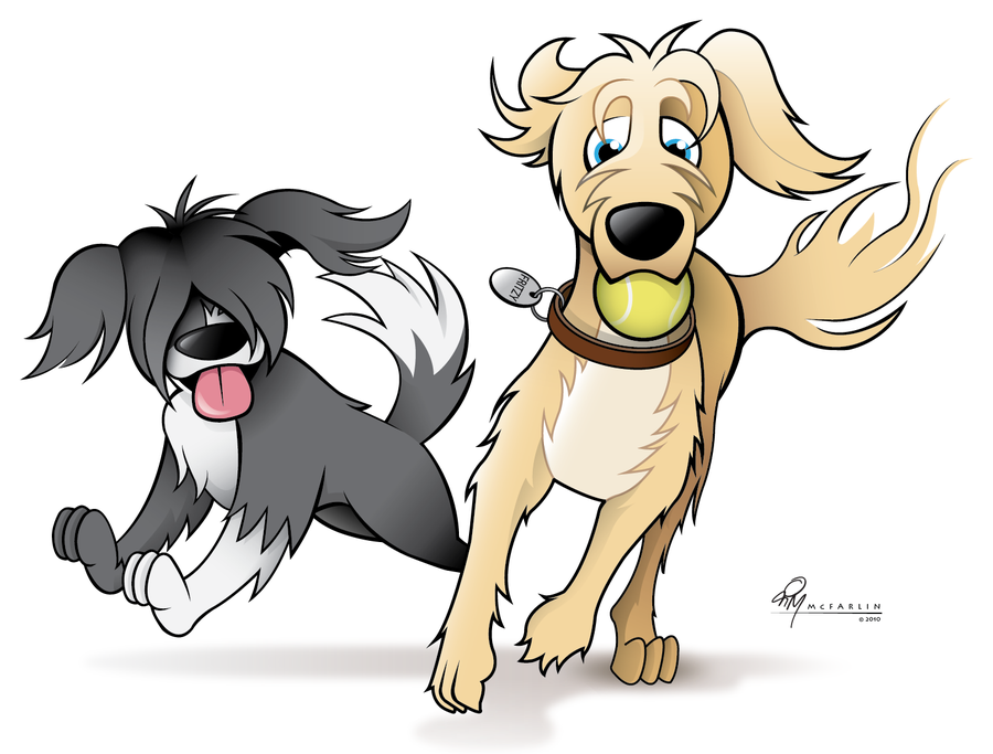 cartoon dog running clipartsco