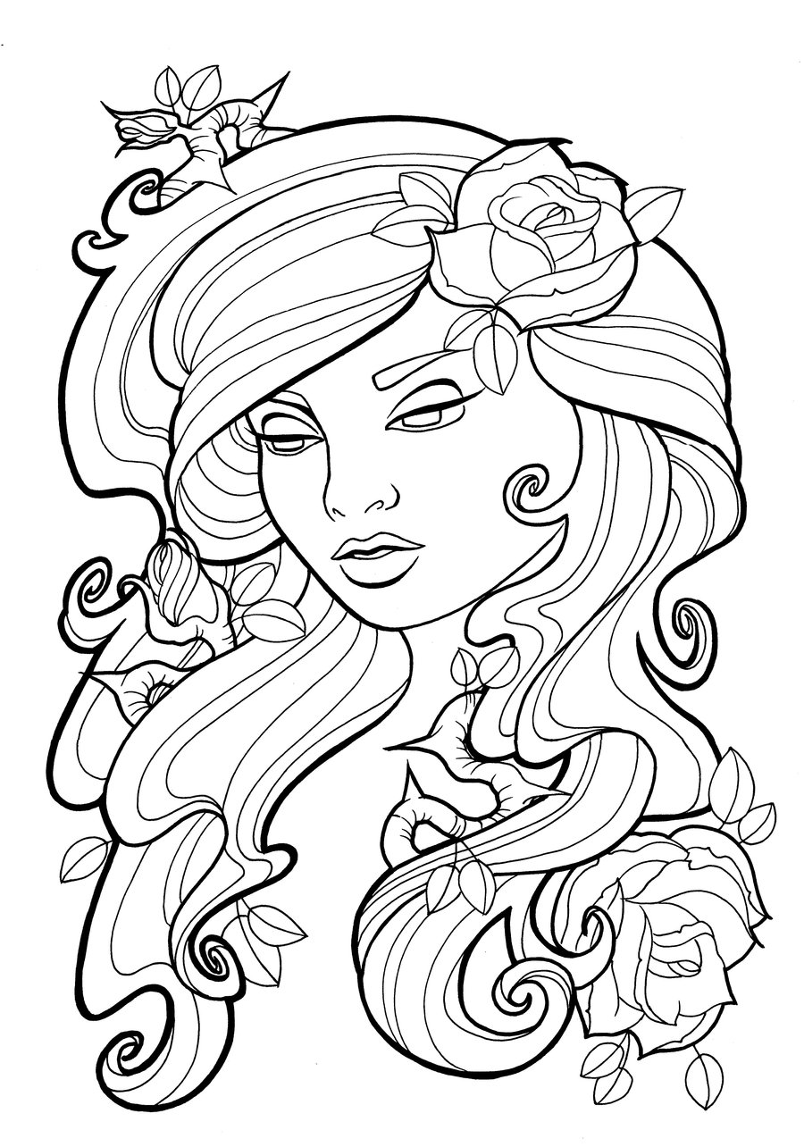 Tattoo Line Drawing Books : Line drawing rose cliparts