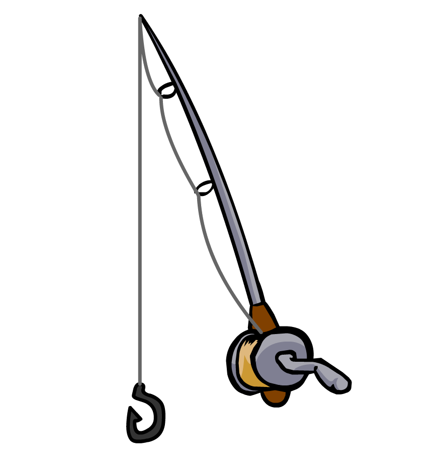 Fishing pole cartoon for Best fishing rod for kids