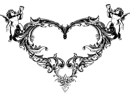 Ornate Heart Vector - Download free Other vectors