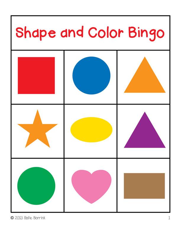 3d shape bingo games - NAMC