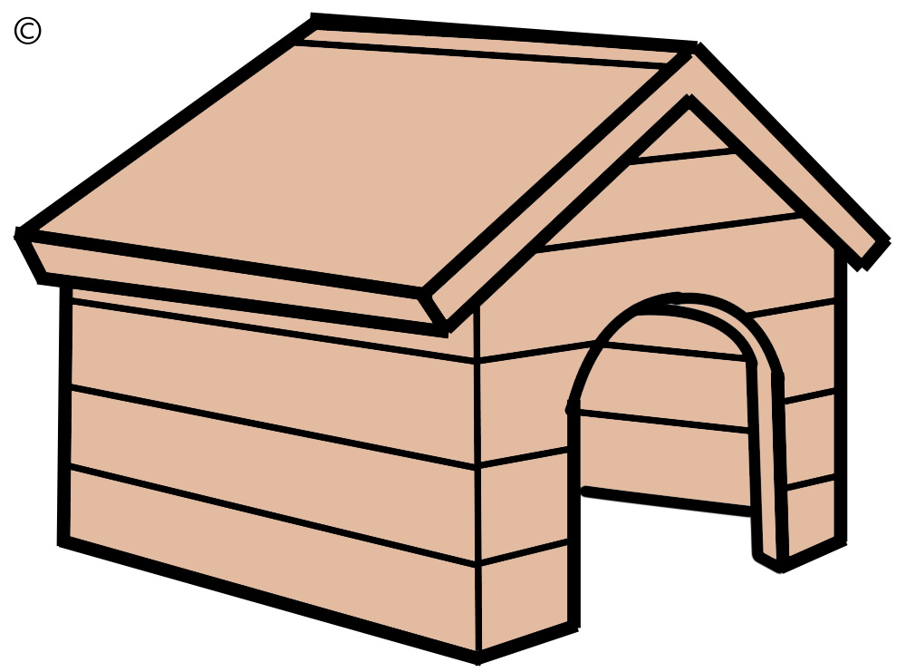 clipart of dog houses - photo #14