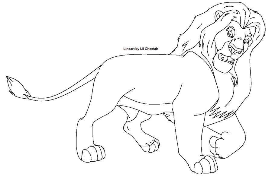 Line Art Of Lion : Lion line art cliparts