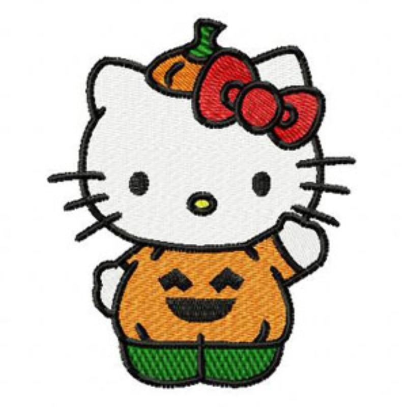 Halloween pumpkin cartoon for Pumpkin kitty designs