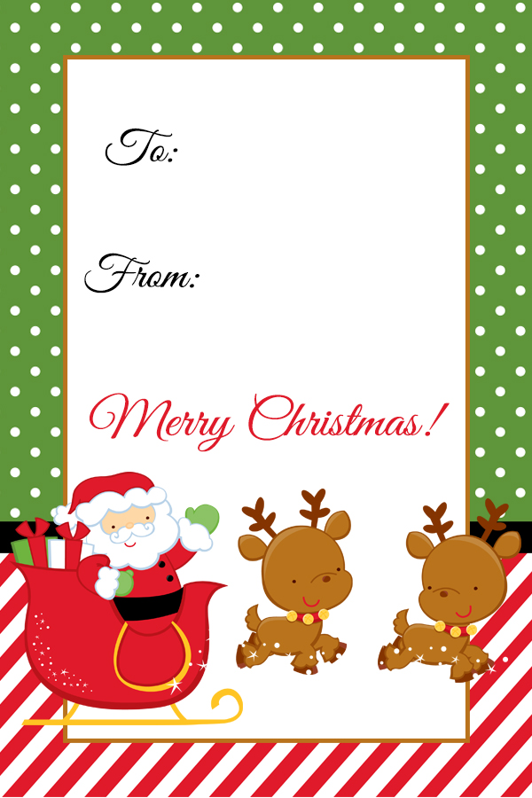 photograph regarding Printable Santa Gift Tags titled Santa Xmas Reward Tag Printable - Digi-Mamas - Free of charge