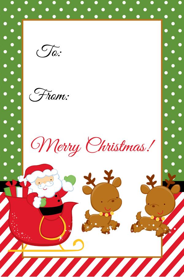 picture about Santa Tag Printable referred to as Santa Xmas Reward Tag Printable - Digi-Mamas - Absolutely free