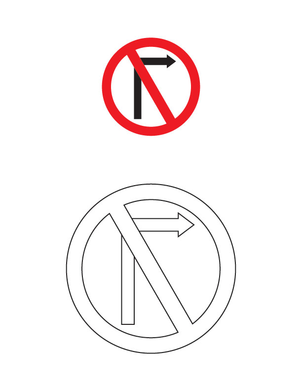 road construction sign coloring pages - photo #47