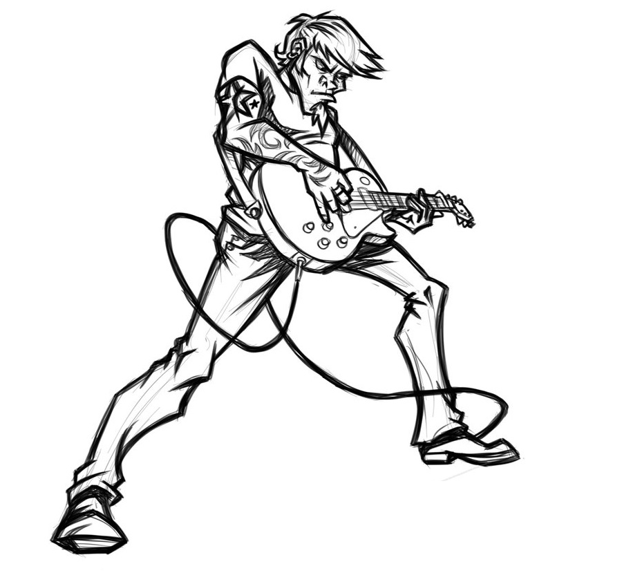 Guitar Player Cartoon - Cliparts.co