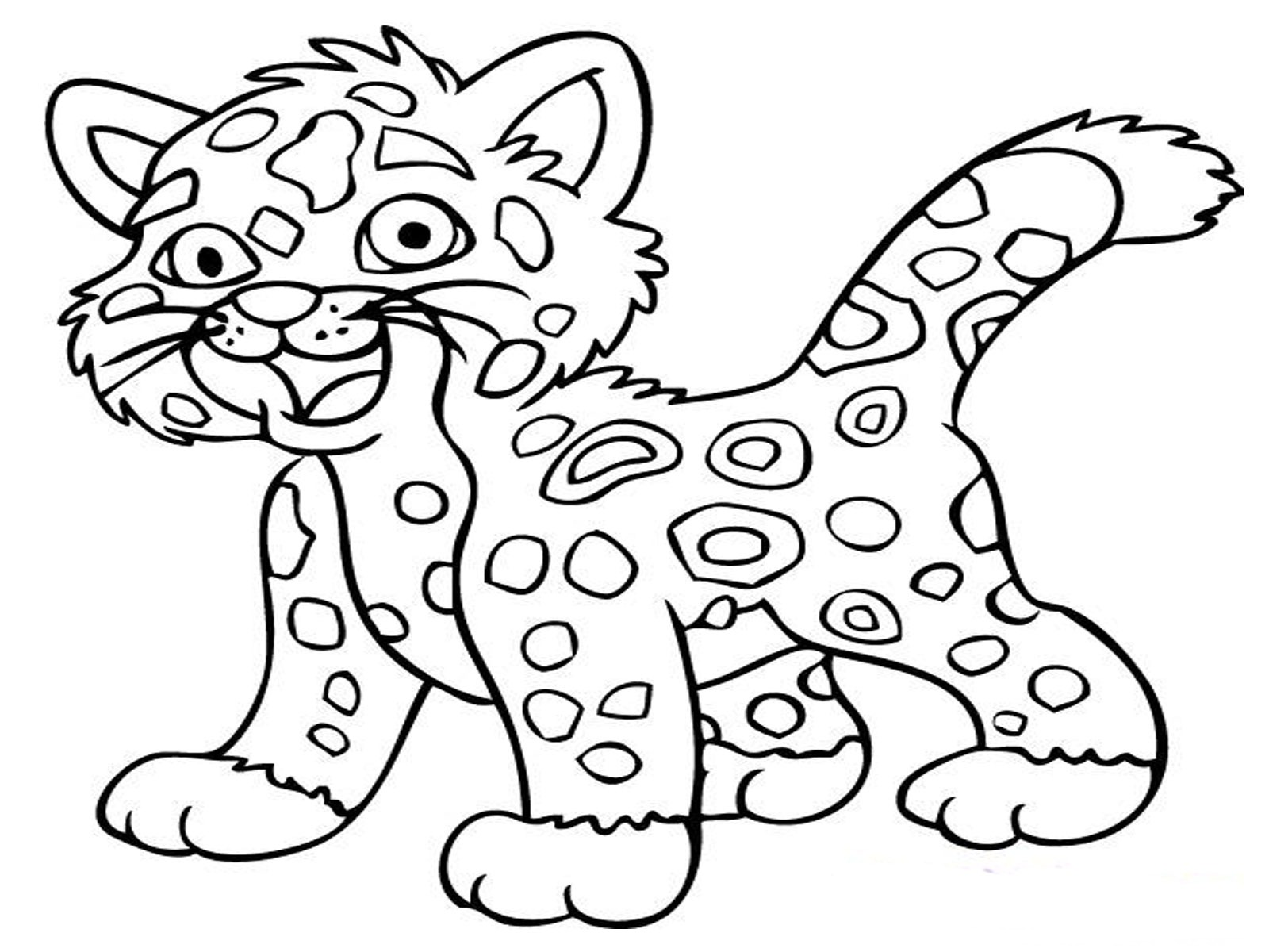 free coloring pages jaguar animal printable : - Coloring Guru