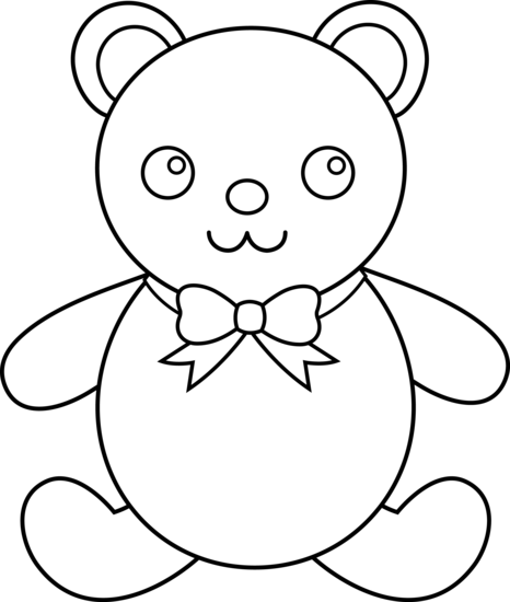 Line Drawing Teddy Bear : Bear line art cliparts