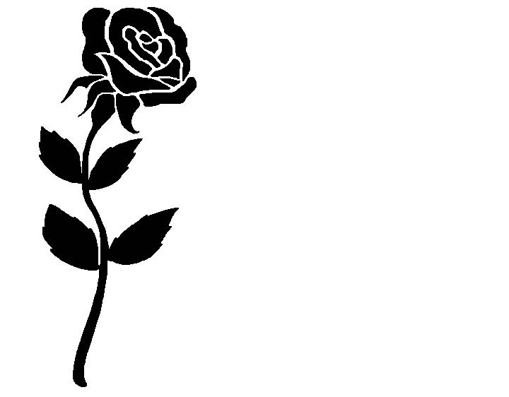 clipart roses black and white - photo #8