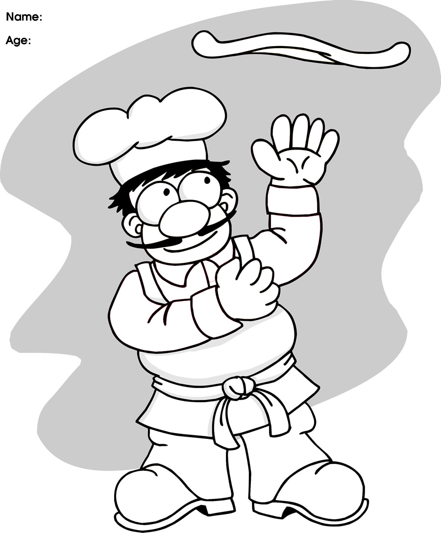 Pizza Chef Coloring Pages  Get Coloring Pages