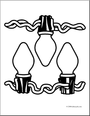 String Of Lights Coloring Page : Clip Art Lights - Cliparts.co
