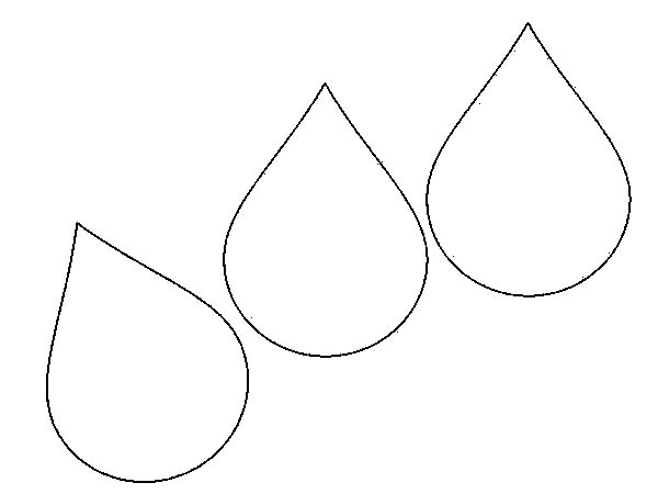 raindrop coloring pages clouds - photo#34