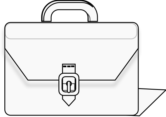 Suitcase Baggage Travel Black And White Clip Art - Luggage Cliparts  Transparent PNG