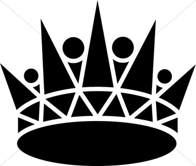 Crown Clipart Black And White - Synkee