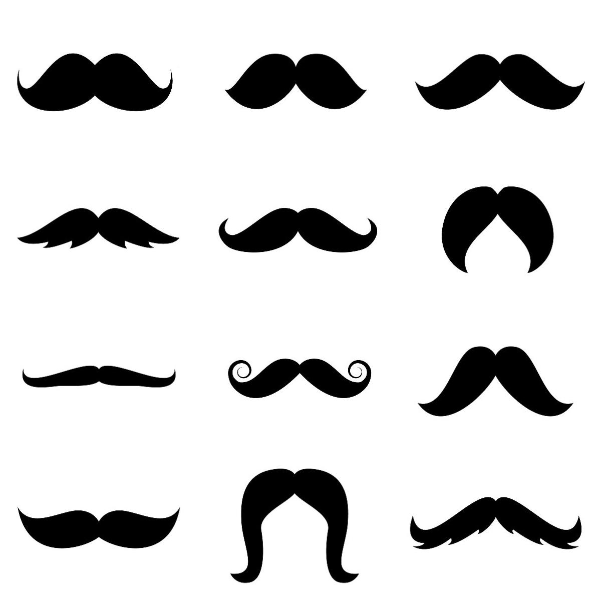 Mustache Graphics - Cliparts.co