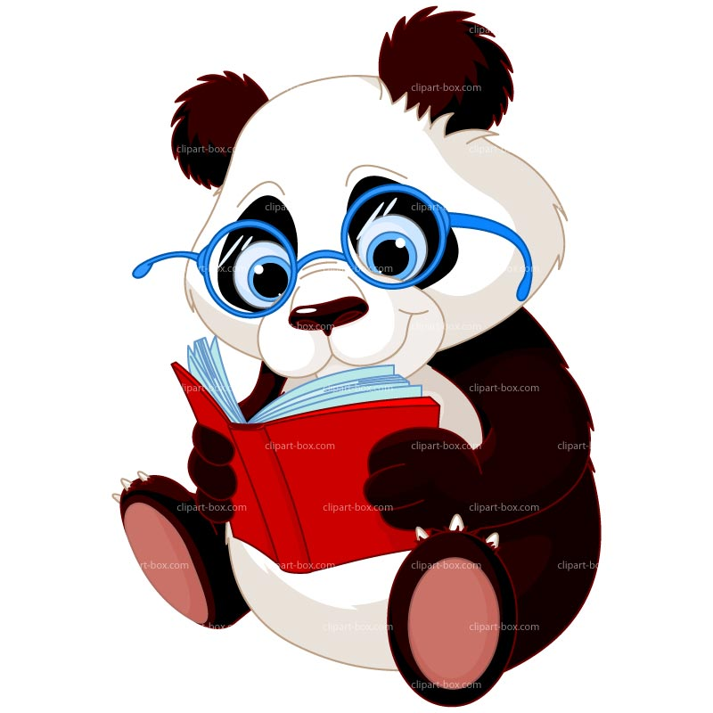 free clip art animals reading books - photo #45
