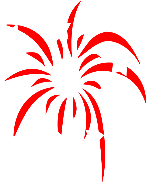 Large Red Fireworks Clip Art Vector Online Royalty Free - ClipArt ...