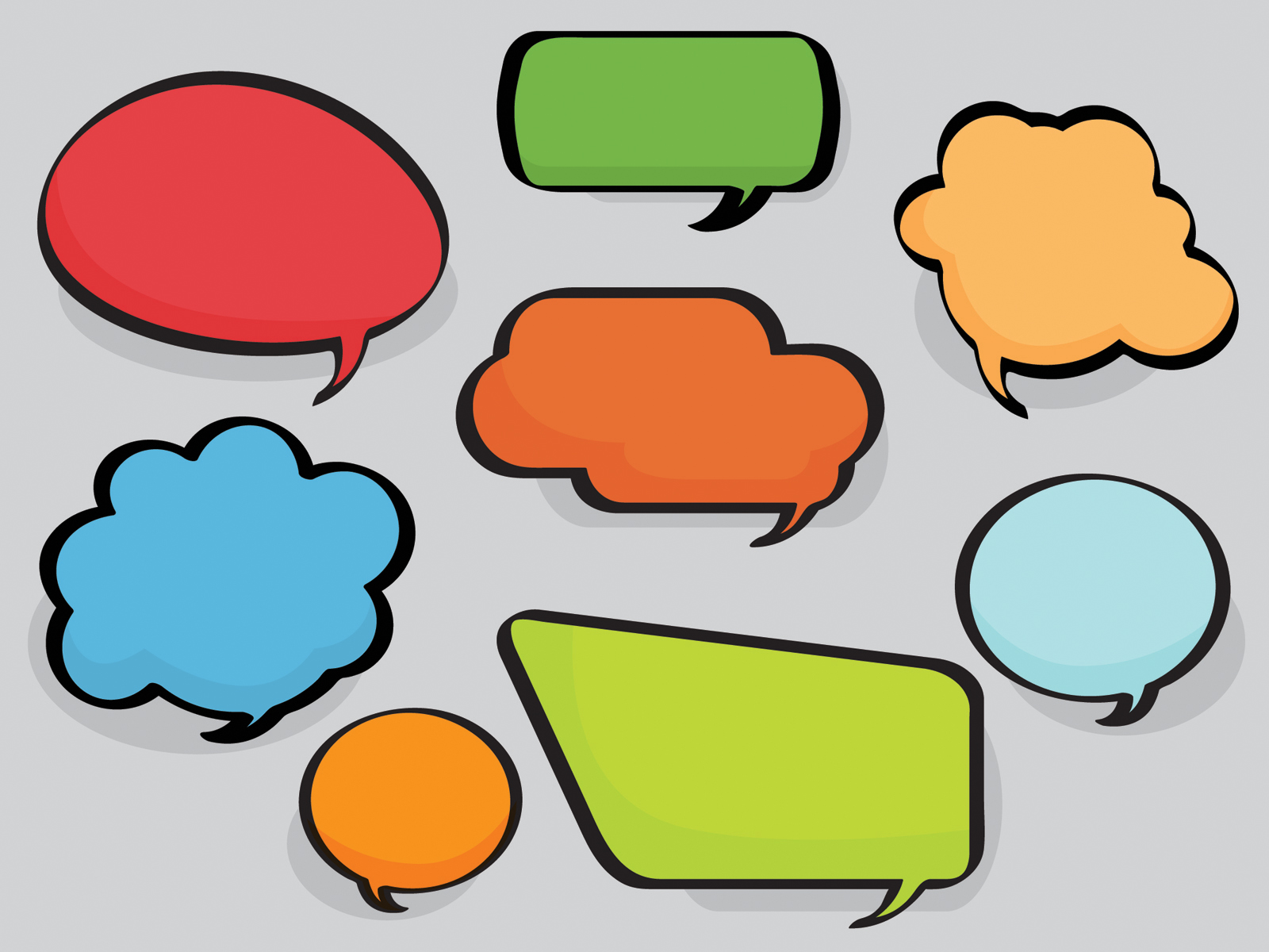 Speech Bubble Printable With Lines - ClipArt Best