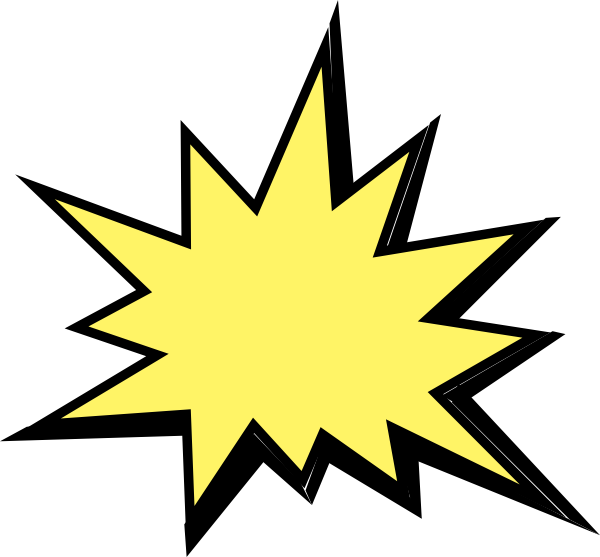 yellow starburst clipart - photo #39