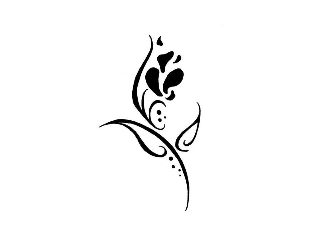 Tribal flower tattoo designs for Small flower designs