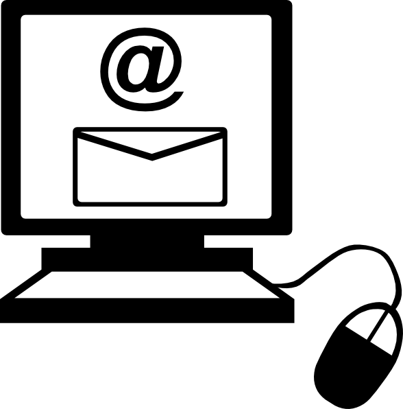 Email On Computer Clip Art Vector Clip Art Online