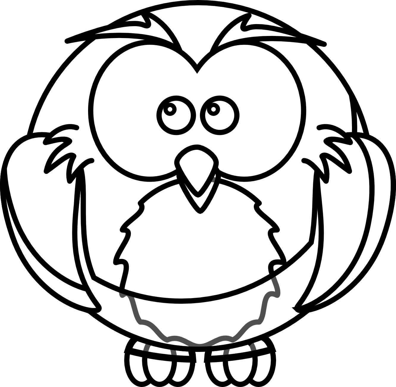 Black And White Owl Clip Art - ClipArt Best