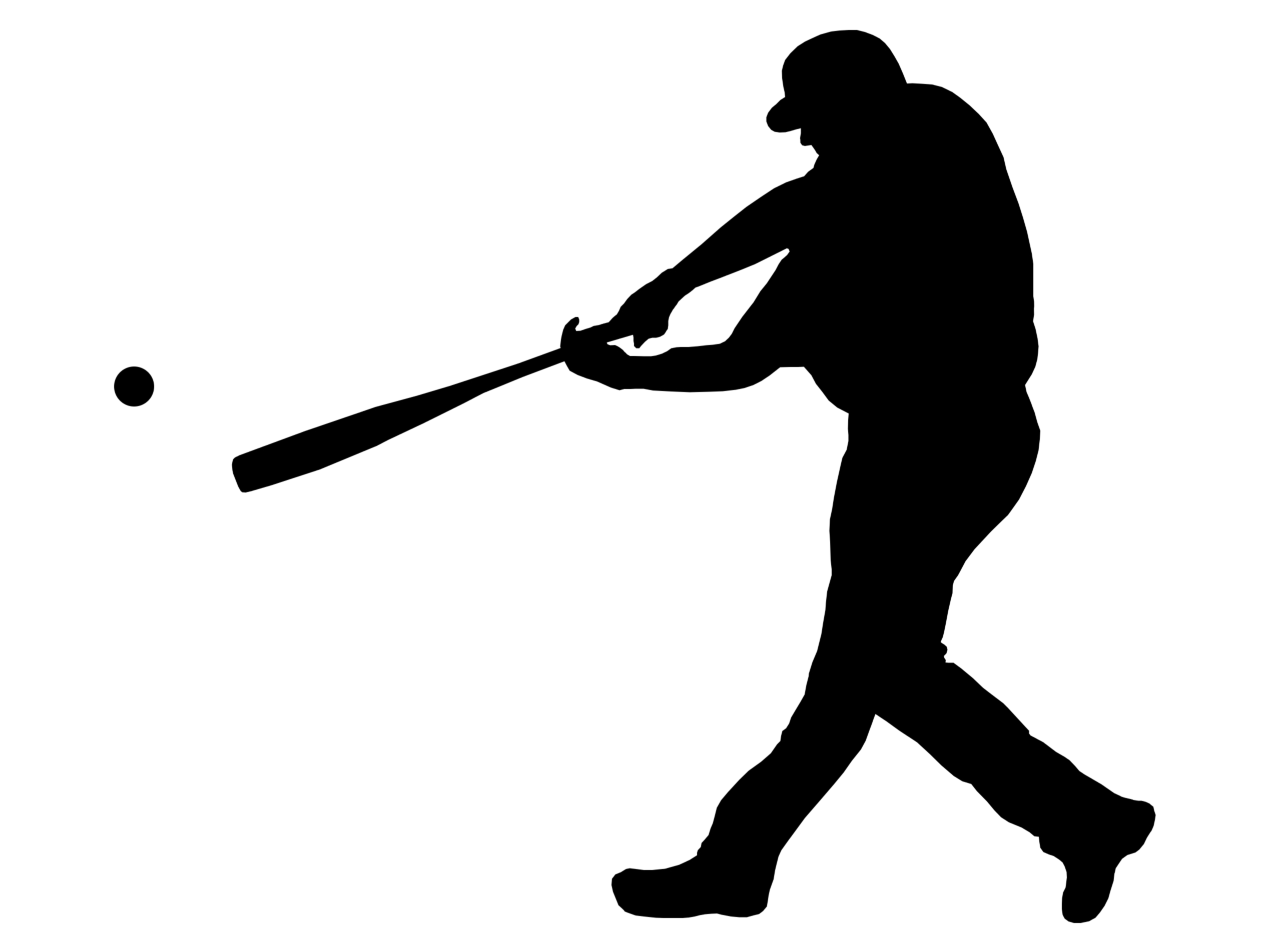 free clipart baseball player silhouette - photo #10