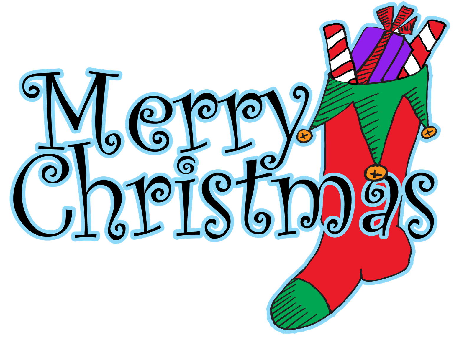 merry christmas words clipart