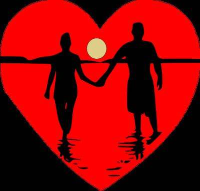 Black couple cartoon images