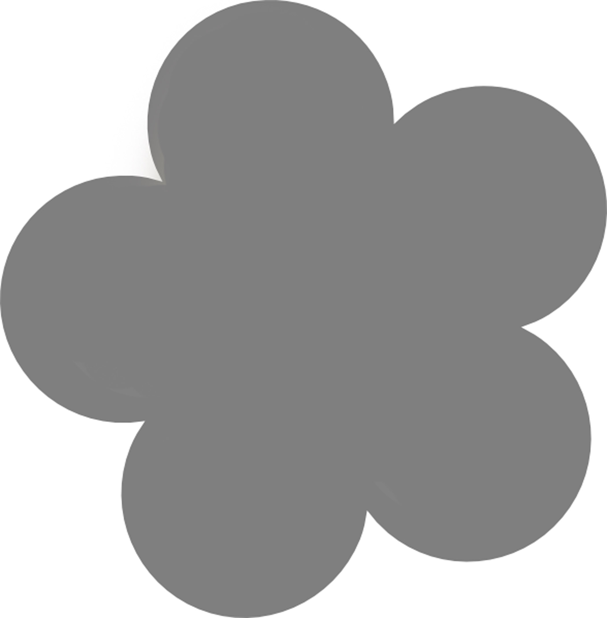 Simple Flower Template - Cliparts.co