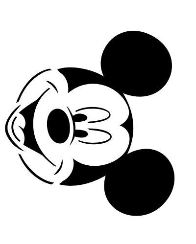 It's just an image of Playful Mickey Mouse Pumpkin Stencils Printable