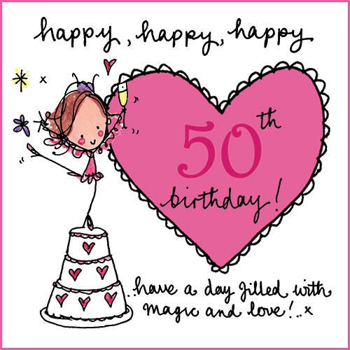 Very Happy 50th Birthday Sarah Cliparts Co Happy Fifty Birthday Wishes
