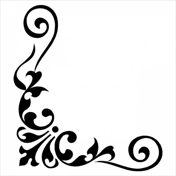 Трафареты угловые для декора своими руками шаблоны