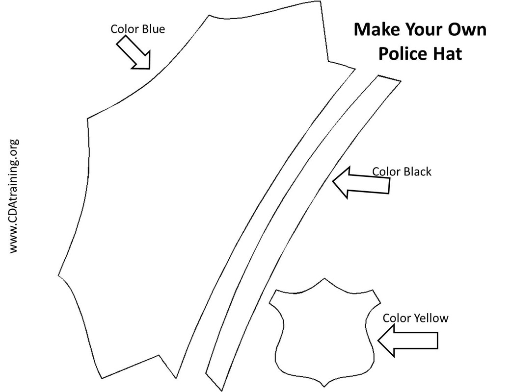 photograph about Printable Police Hat identify Law enforcement Officer Badge Template -