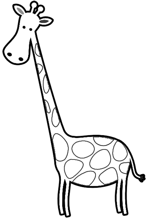Cute Cartoon Giraffe Black And White Images & Pictures - Becuo