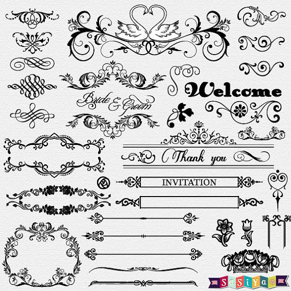Wedding Card Line Art Designs : Wedding card white designs clipart cliparts