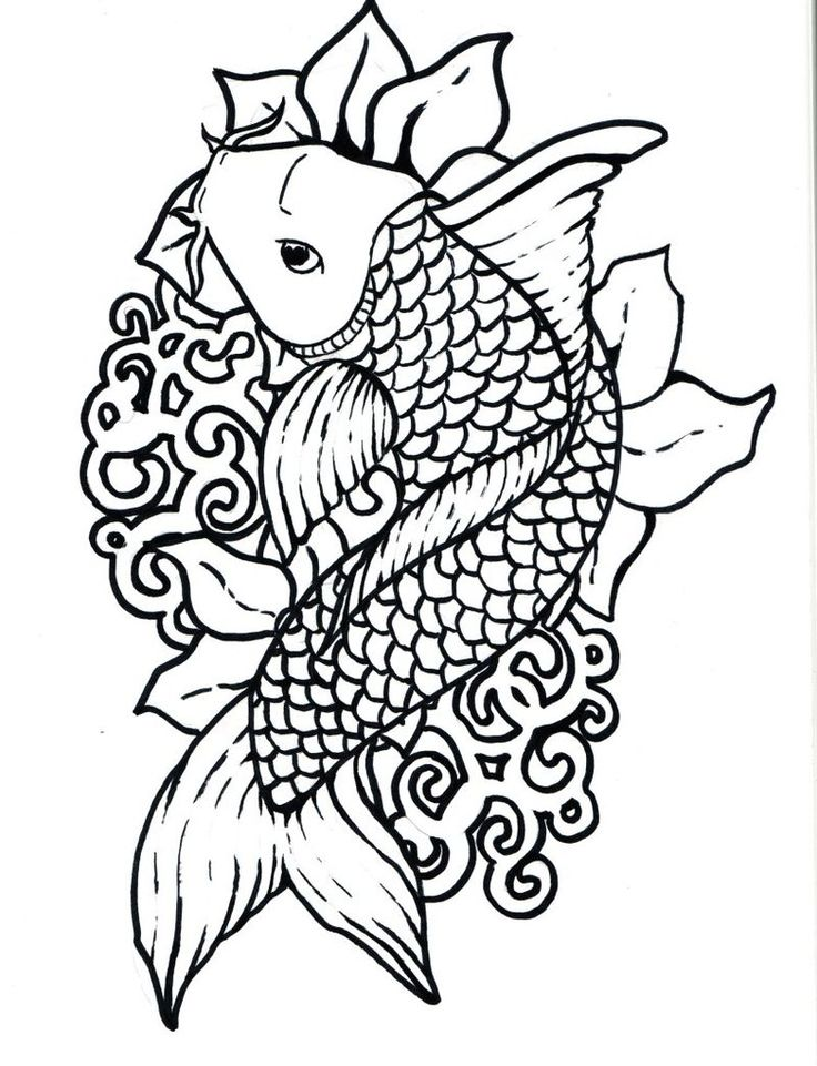 outlines of fish az coloring pages