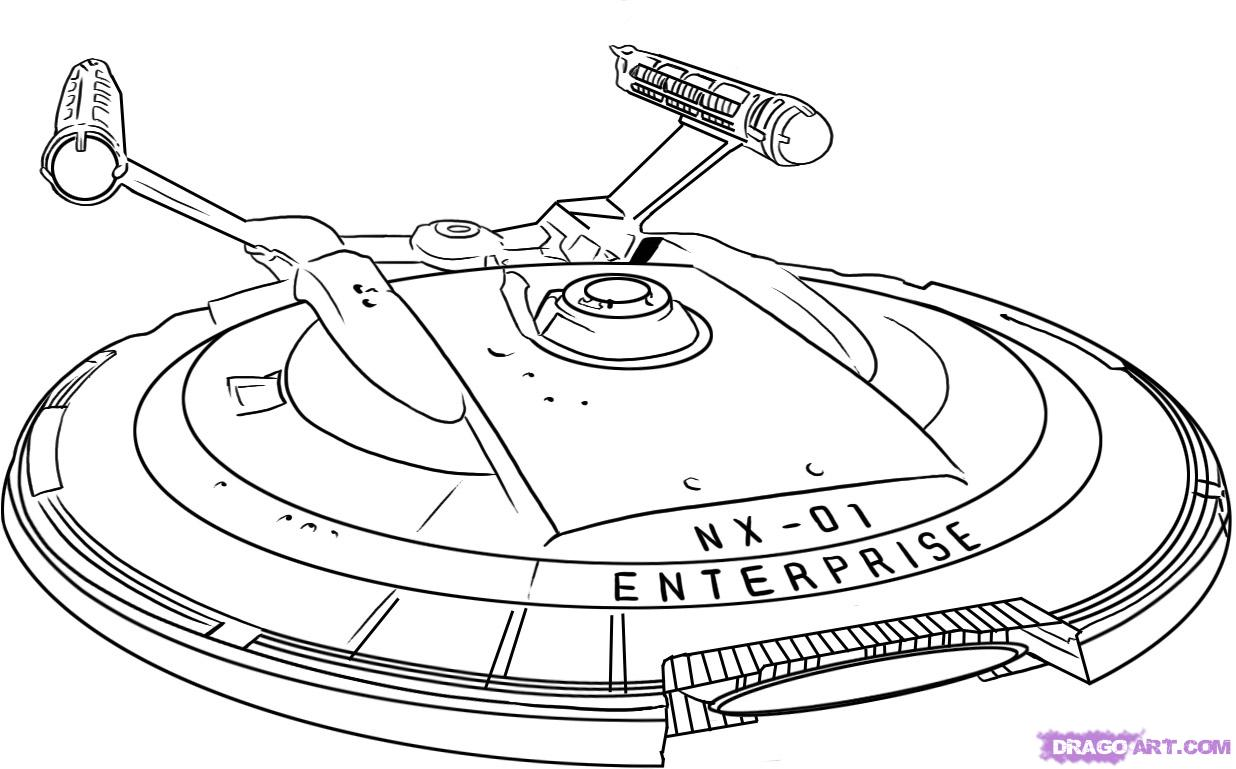 Star Trek Coloring Pages - Shuttle craft Galileo Coloring page ... | 769x1236