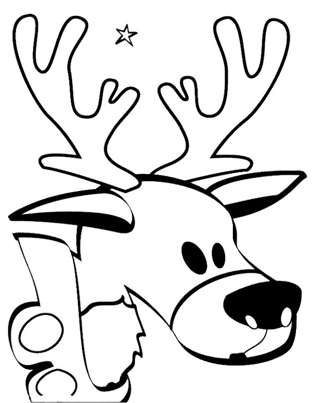 cartoon deer coloring pages - photo#34