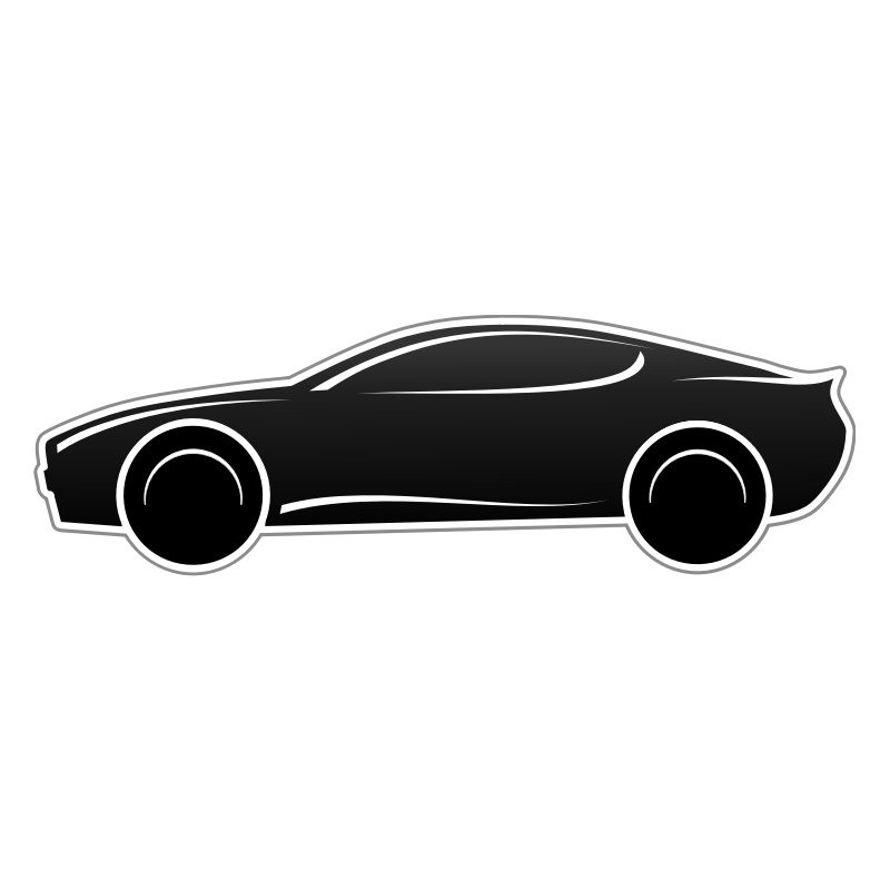 Clipart - Sportscar in Black & White