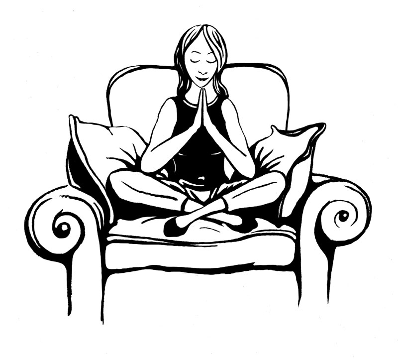 Woman Meditating Clip Art - Richard Crooke for Practical Conscious ...