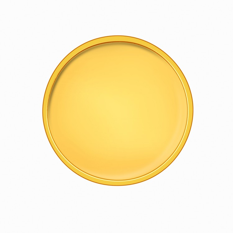 2 gm, 24Kt Plain Yellow Gold Coin - 24Kt (995 Purity) | KamaJewellery.