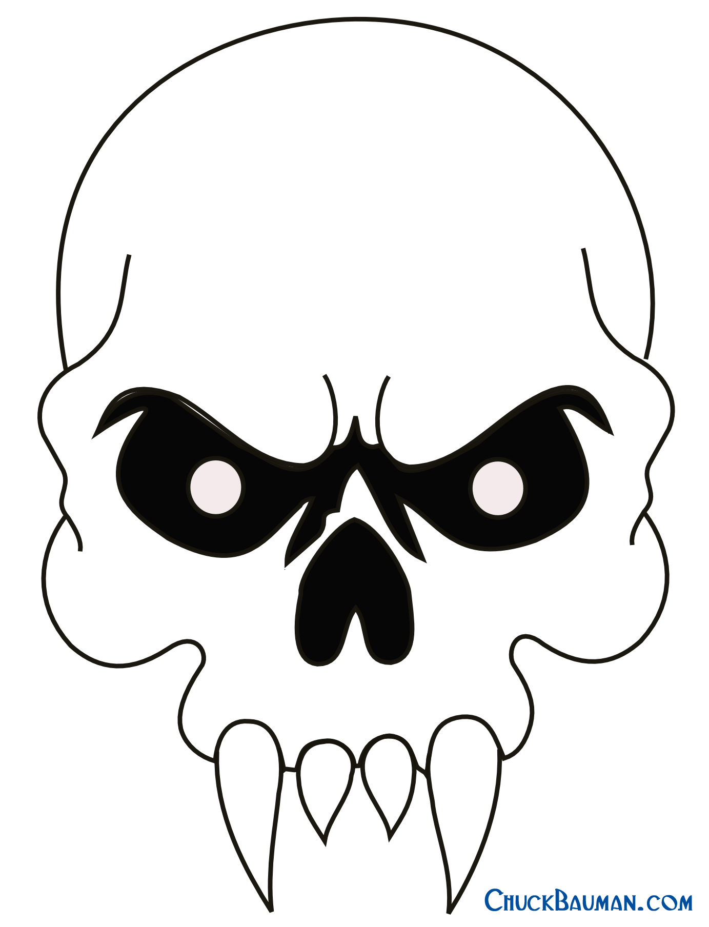 easy cool skull drawings clipartsco