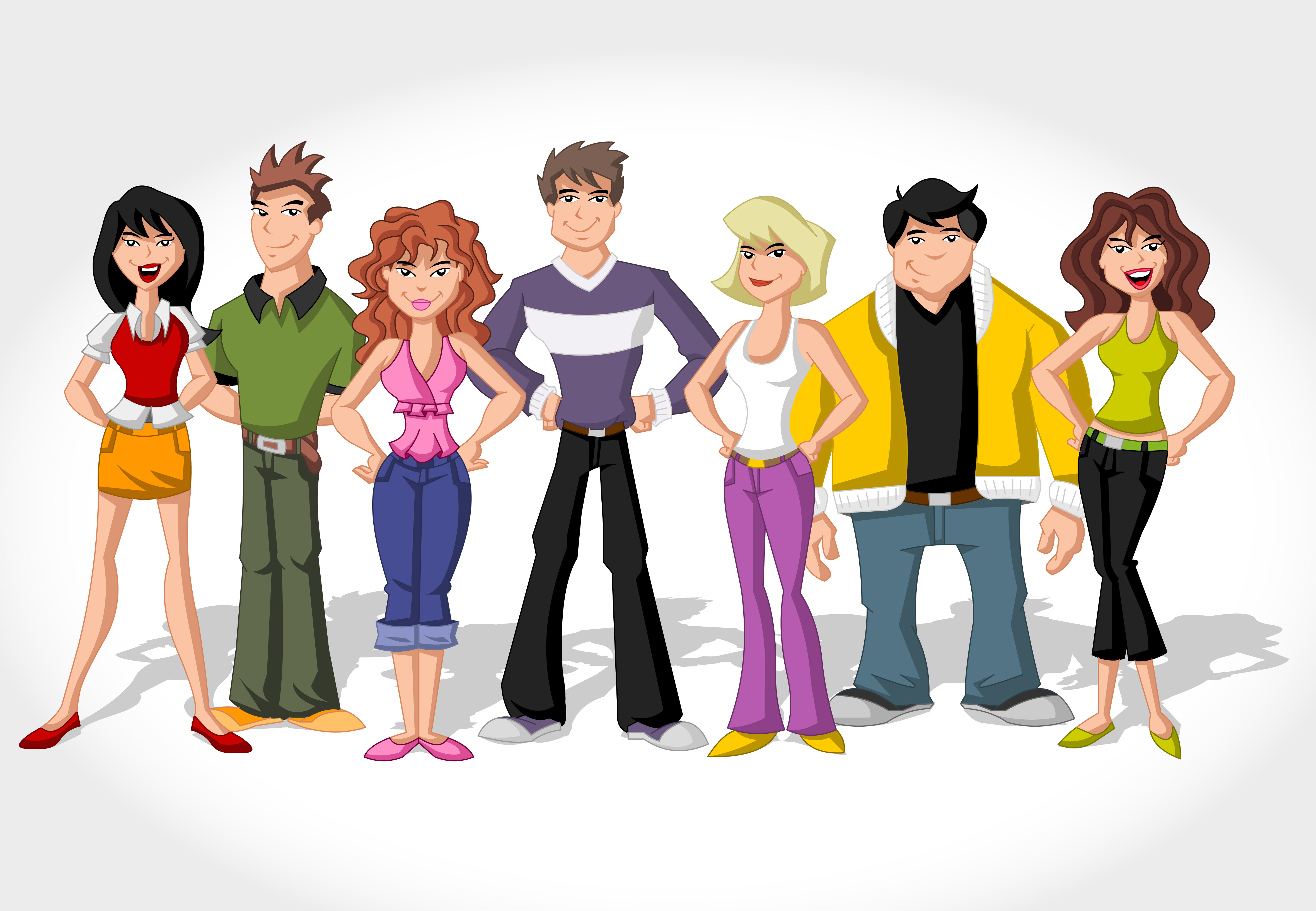 Images For > Cartoon Happy People